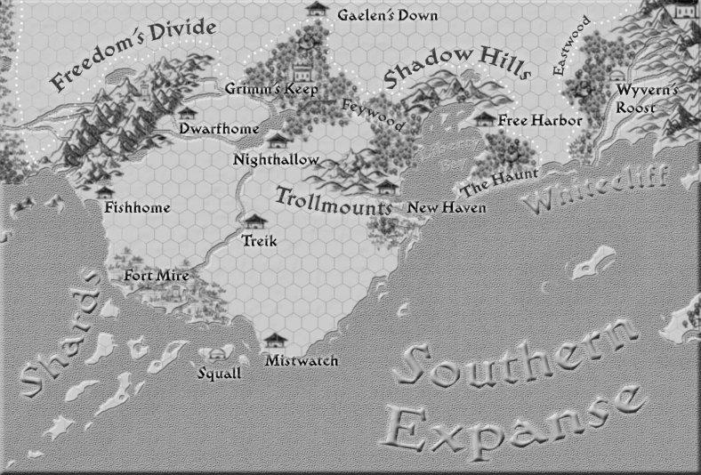 Free Coast Regional Map