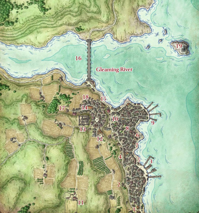 Map by Mike Schley. ©Wizards of the Coast LLC.